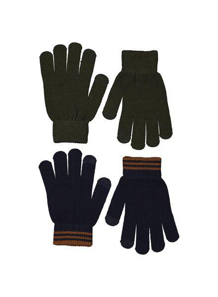 2-pak kinderhandschoenen touchscreen groen groen - 1000014550 - HEMA