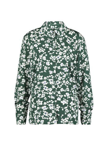 damesblouse donkergroen donkergroen - 1000015114 - HEMA