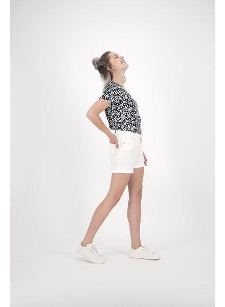 dames t-shirt zwart/wit zwart/wit - 1000014473 - HEMA