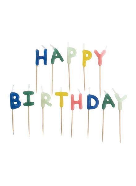 taartkaarsjes happy birthday - 14230051 - HEMA