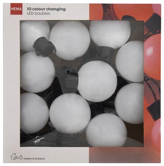 verlichtingssnoer kerstballen 10 LED lampjes veranderen van kleur 6.89 meter - 25530324 - HEMA