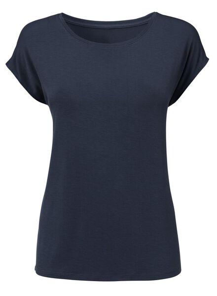 dames t-shirt donkerblauw donkerblauw - 1000012821 - HEMA