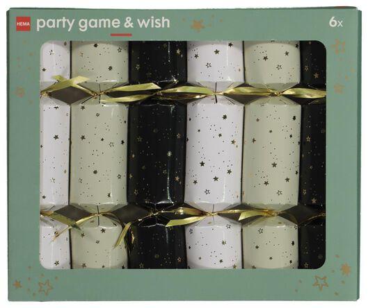 partycracker spel met feestwens 6 stuks - 25610160 - HEMA