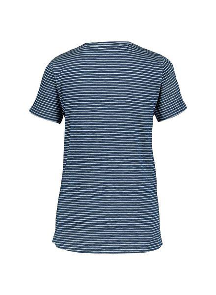 dames t-shirt middenblauw middenblauw - 1000014327 - HEMA