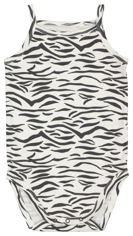 HEMA Romper Organic Katoen Stretch Zebra Zwart/wit (zwart/wit)