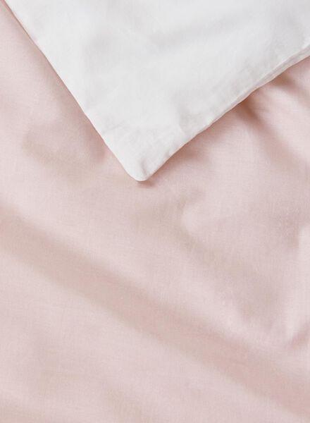 dekbedovertrek - zacht katoen - 240 x 220 cm - roze - 5700161 - HEMA