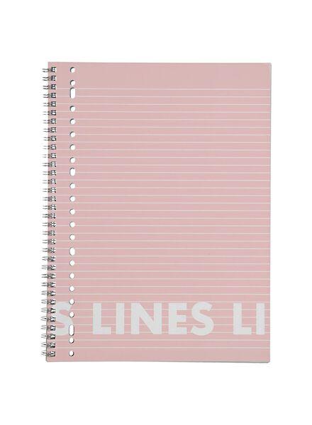 collegeblok roze A4 gelinieerd - 3 stuks - 14101641 - HEMA