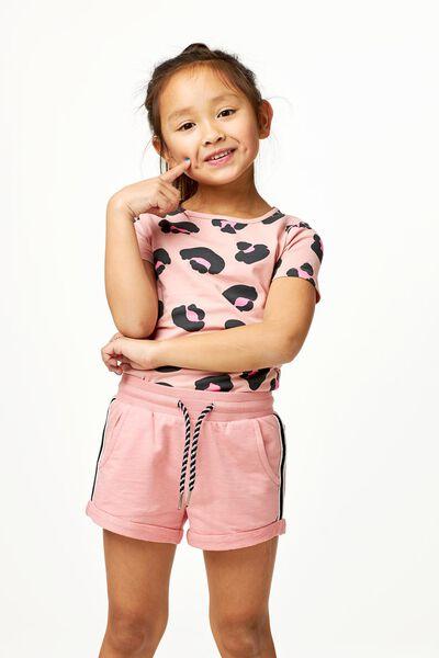 kinder sweatshort roze 86/92 - 30855741 - HEMA