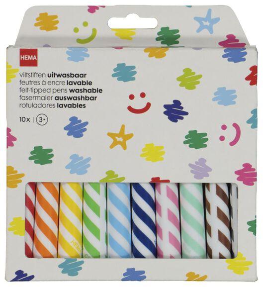 viltstiften uitwasbaar - 10 stuks - 15900037 - HEMA