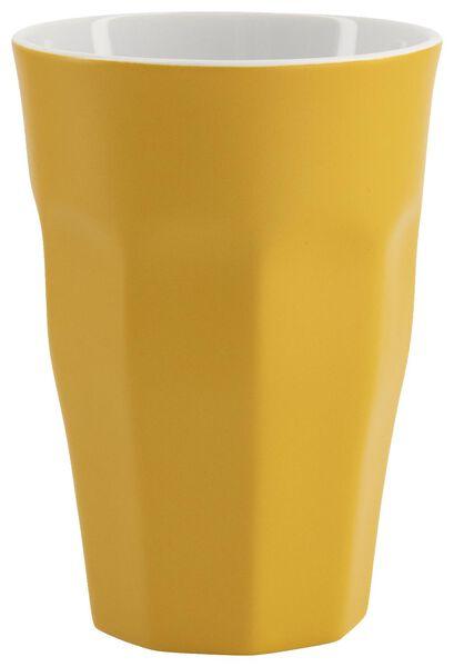 mok - 330 ml - Mirabeau mat - geel - 9602213 - HEMA