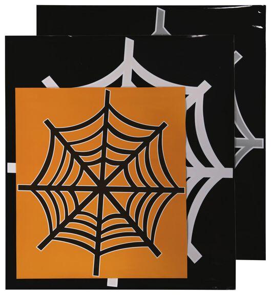 raamstickers spinnenweb Halloween - 3 stuks - 25200714 - HEMA