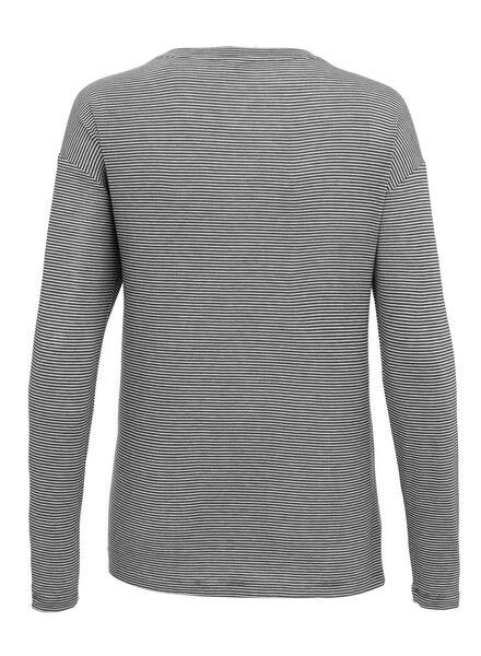 dames t-shirt zwart/wit zwart/wit - 1000011650 - HEMA