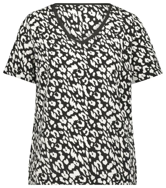 dames top animal recycled zwart S - 36334796 - HEMA