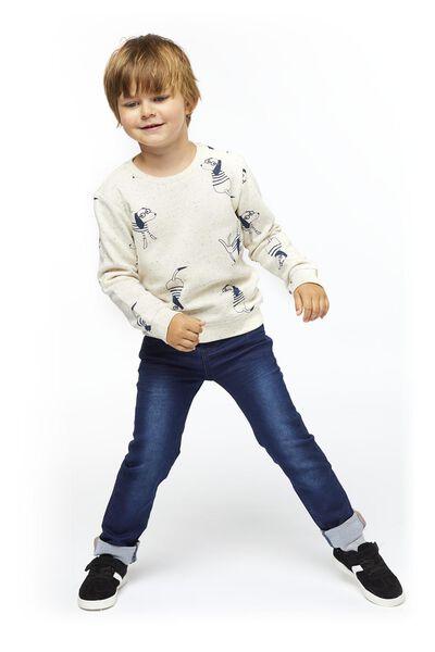 kinderjeans skinny fit donkerblauw 140 - 30770338 - HEMA