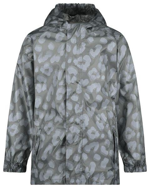 opvouwbare kinder regenjas luipaard grijs grijs - 1000022427 - HEMA