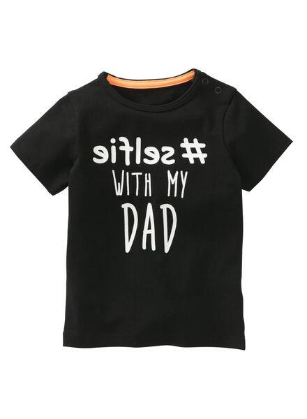 baby t-shirt zwart zwart - 1000008030 - HEMA
