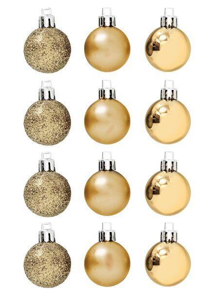 12-pak plastic kerstballen - 25100616 - HEMA
