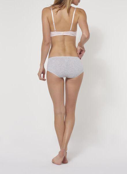 naadloze damesboxer - real lasting cotton grijs grijs - 1000002222 - HEMA