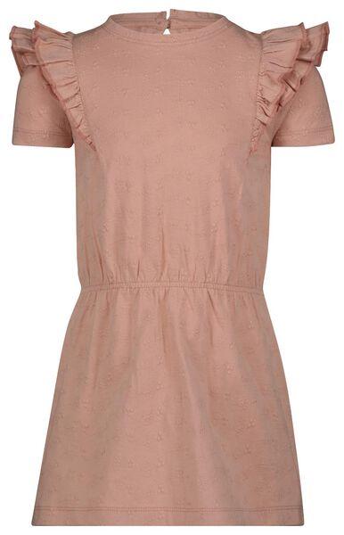 kinderjurk broderie roze roze - 1000023246 - HEMA