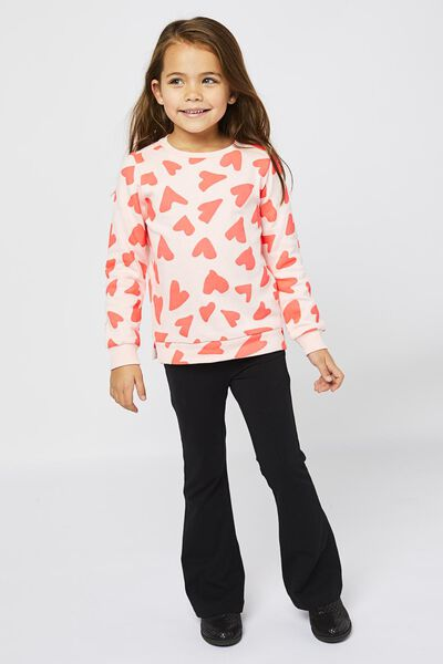 kindersweater hartjes roze - 1000021946 - HEMA