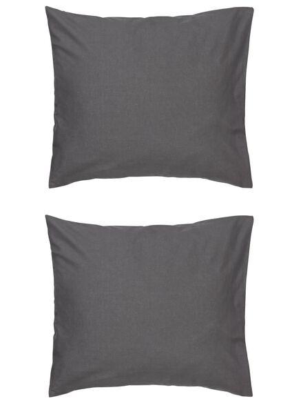 kussenslopen - zacht katoen - grijs donkergrijs 60 x 70 - 5140135 - HEMA