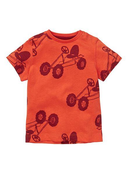 baby t-shirt rood rood - 1000012990 - HEMA