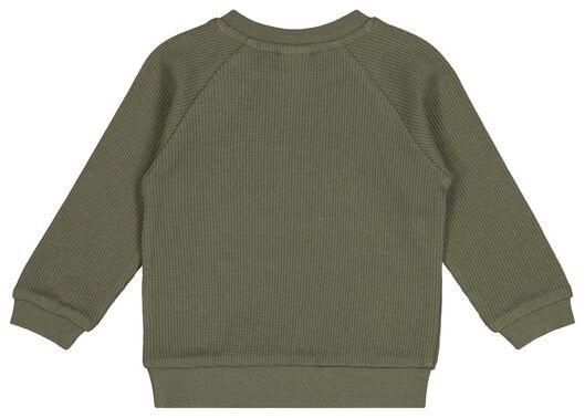 babysweater wafel groen 86 - 33103845 - HEMA