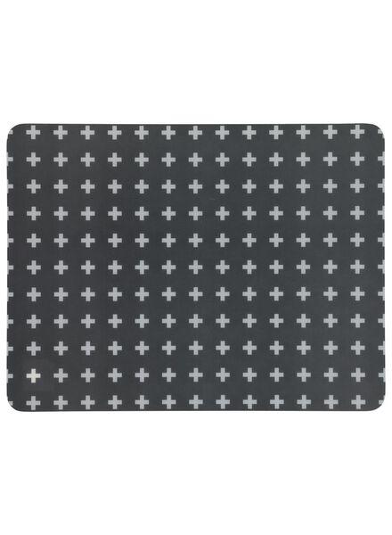 placemat - 32 x 42 - kunststof - donkergrijs plusje - 5300066 - HEMA