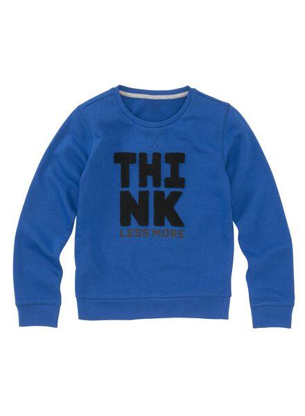 kindersweater middenblauw - 1000008256 - HEMA