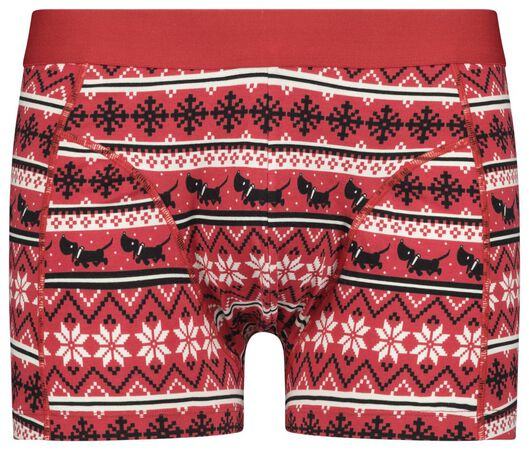 herenboxer kerst Takkie rood rood - 1000021518 - HEMA