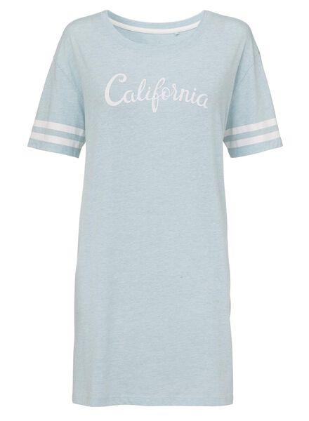 dames nacht t-shirt aqua aqua - 1000008548 - HEMA
