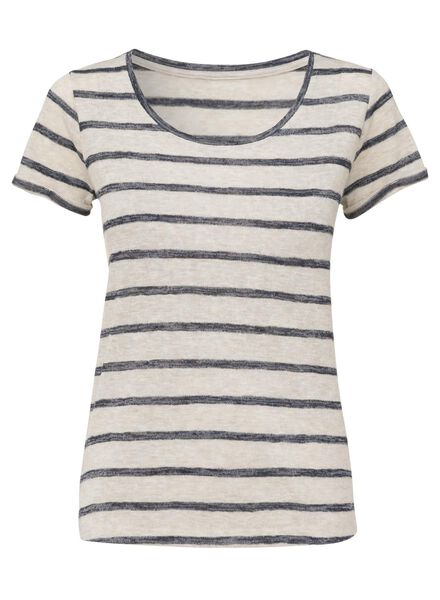 dames t-shirt gebroken wit - 1000008308 - HEMA