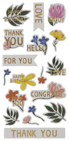 stickervellen bloemen - 5 stuks - 14700456 - HEMA