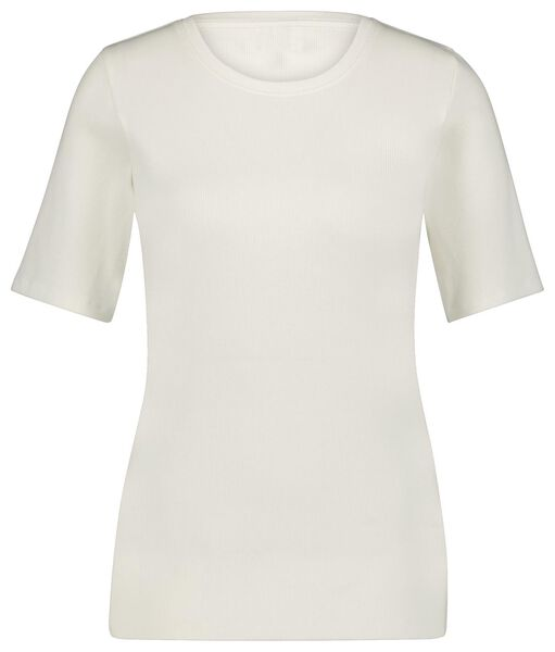 dames t-shirt rib wi. wi. - 1000024812 - HEMA