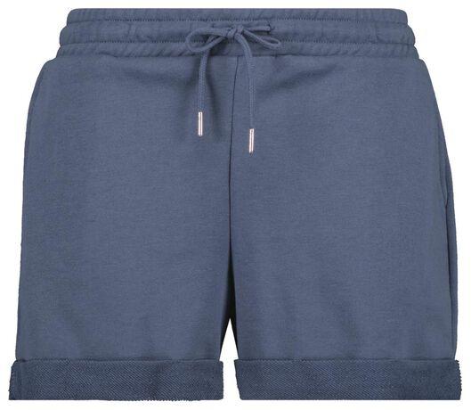 dames sweatshort blauw M - 36272377 - HEMA