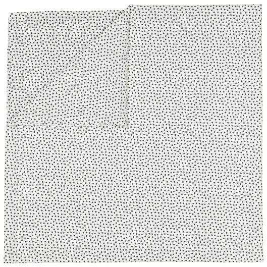 laken - 200 x 255 - zacht katoen - wit stipje - 5100029 - HEMA