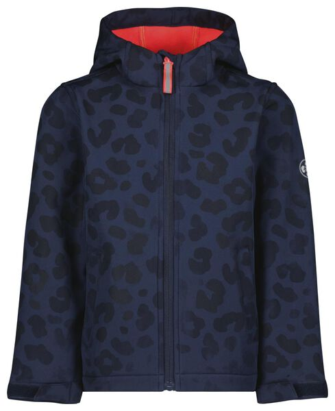 kinderjas magic luipaard donkerblauw 146/152 - 30820470 - HEMA
