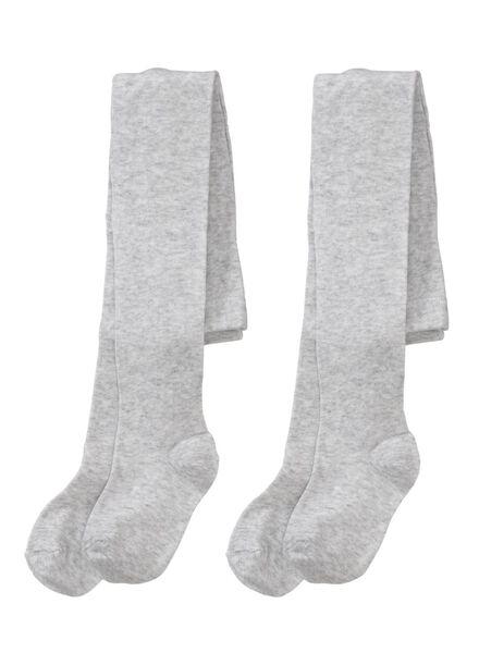 2-pak kindermaillots grijsmelange grijsmelange - 1000002128 - HEMA