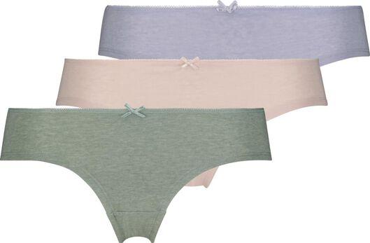 dameshipsters - 3 stuks groen M - 19640942 - HEMA