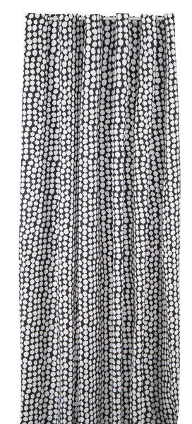 Douchegordijn 180x200cm textiel -zwart/wit