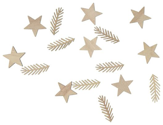 confetti hout - 16 stuks - 25600170 - HEMA