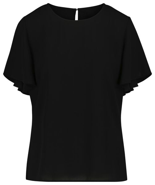 dames top zwart zwart - 1000019232 - HEMA