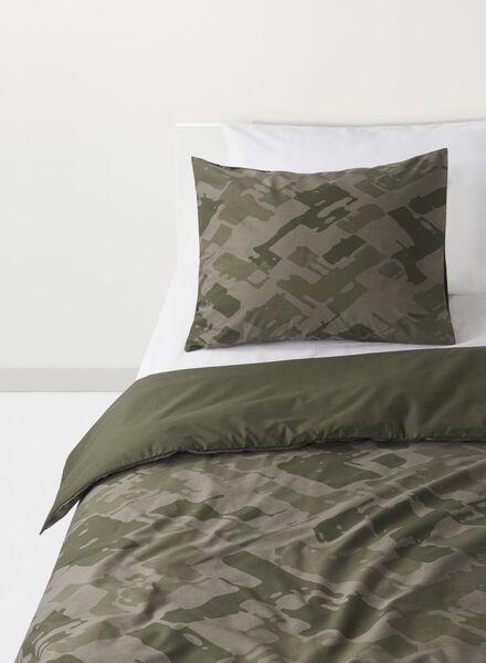 kinderdekbedovertrek - 140 x 200 - zacht katoen - camouflage - 5710096 - HEMA