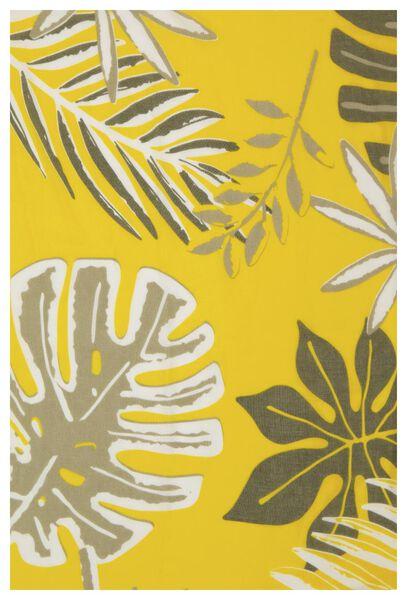 damessjaal 200x80 bladeren geel - 1780033 - HEMA