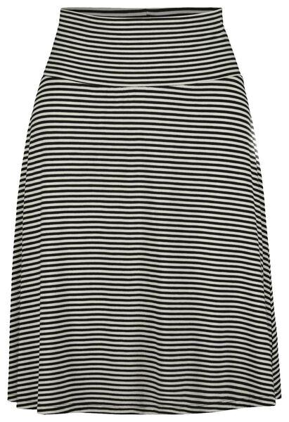 damesrok zwart/wit zwart/wit - 1000019225 - HEMA