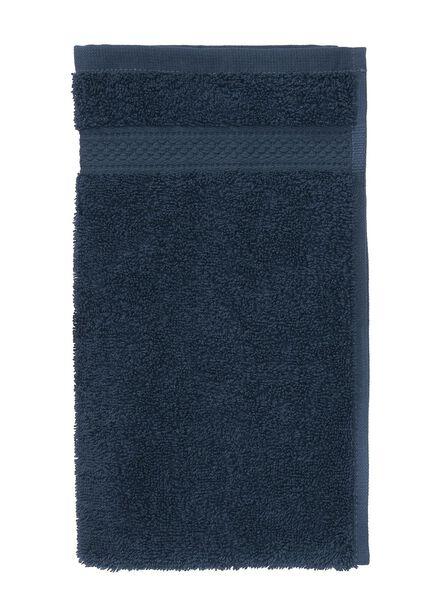 gastendoek - 30 x 55 cm - zware kwaliteit - denim uni denim gastendoekje - 5240179 - HEMA