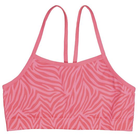 2-pak kinder soft tops zebra felroze 146/152 - 19300913 - HEMA