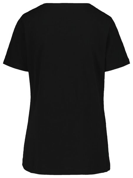 dames t-shirt zwart zwart - 1000019252 - HEMA
