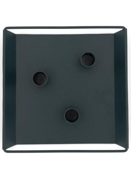kaarsplateau - 20.5 x 20.5 x 2.5 - donkergroen - 13392002 - HEMA