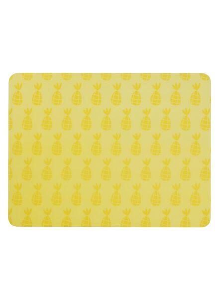 placemat - 32 x 42 - kunststof - geel ananas - 5320003 - HEMA